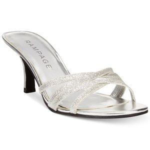 "LIKE NEW Rampage ""Frankie"" silver heels"